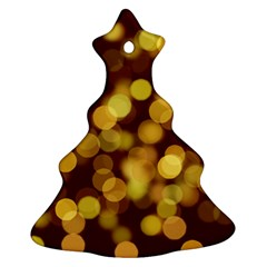 Modern Bokeh 9 Christmas Tree Ornament (2 Sides)
