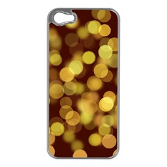 Modern Bokeh 9 Apple Iphone 5 Case (silver)