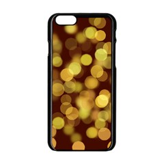Modern Bokeh 9 Apple Iphone 6 Black Enamel Case