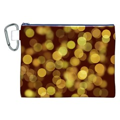 Modern Bokeh 9 Canvas Cosmetic Bag (XXL)