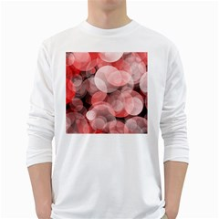 Modern Bokeh 10 White Long Sleeve T-Shirts