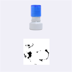 Modern Bokeh 10 Rubber Round Stamps (small)
