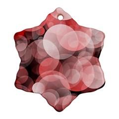 Modern Bokeh 10 Ornament (Snowflake)