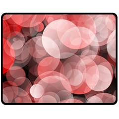 Modern Bokeh 10 Double Sided Fleece Blanket (medium)