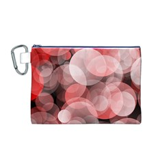 Modern Bokeh 10 Canvas Cosmetic Bag (M)
