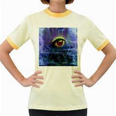 Waterfall Tears Women s Fitted Ringer T-Shirts
