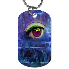 Waterfall Tears Dog Tag (two Sides)