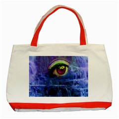 Waterfall Tears Classic Tote Bag (red)