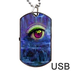 Waterfall Tears Dog Tag USB Flash (Two Sides)