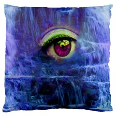 Waterfall Tears Large Flano Cushion Cases (One Side)