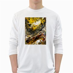 Surreal White Long Sleeve T Shirts