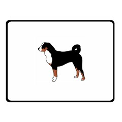 Appenzeller Sennenhund Silo Color Fleece Blanket (Small)