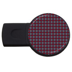 Cute Pretty Elegant Pattern Usb Flash Drive Round (2 Gb)