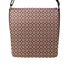 Cute Pretty Elegant Pattern Flap Messenger Bag (l)