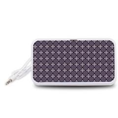 Cute Pretty Elegant Pattern Portable Speaker (White)