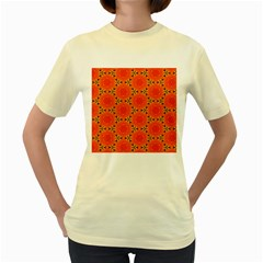 Cute Pretty Elegant Pattern Women s Yellow T Shirt