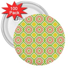 Cute Pretty Elegant Pattern 3  Buttons (100 Pack)