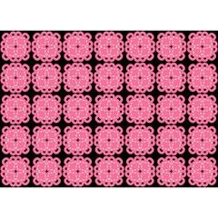 Cute Pretty Elegant Pattern Birthday Cake 3d Greeting Card (7x5)