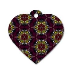 Cute Pretty Elegant Pattern Dog Tag Heart (two Sides)