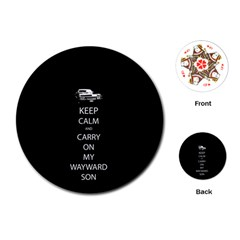 Keep Calm and Carry On My Wayward Son Playing Cards (Round)