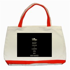 Keep Calm And Carry On My Wayward Son Classic Tote Bag (red)