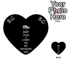 Keep Calm and Carry On My Wayward Son Playing Cards 54 (Heart)