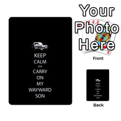 Keep Calm And Carry On My Wayward Son Multi Purpose Cards (rectangle)