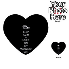 Keep Calm and Carry On My Wayward Son Multi-purpose Cards (Heart)