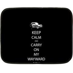 Keep Calm And Carry On My Wayward Son Fleece Blanket (mini)