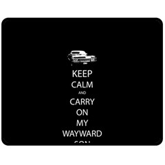 Keep Calm and Carry On My Wayward Son Fleece Blanket (Medium)