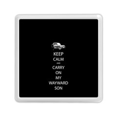 Keep Calm and Carry On My Wayward Son Memory Card Reader (Square)