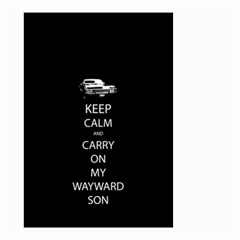 Keep Calm And Carry On My Wayward Son Small Garden Flag (two Sides)