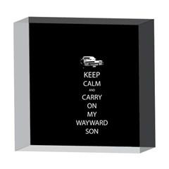 Keep Calm and Carry On My Wayward Son 5  x 5  Acrylic Photo Blocks