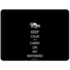 Keep Calm and Carry On My Wayward Son Double Sided Fleece Blanket (Large)