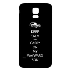 Keep Calm And Carry On My Wayward Son Samsung Galaxy S5 Back Case (white)