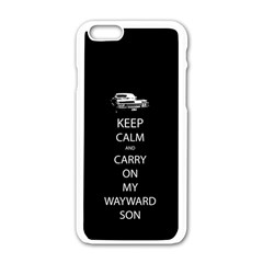Keep Calm And Carry On My Wayward Son Apple Iphone 6 White Enamel Case