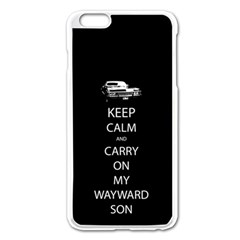 Keep Calm and Carry On My Wayward Son Apple iPhone 6 Plus Enamel White Case