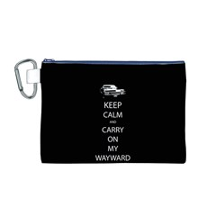 Keep Calm and Carry On My Wayward Son Canvas Cosmetic Bag (M)