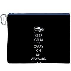 Keep Calm and Carry On My Wayward Son Canvas Cosmetic Bag (XXXL)