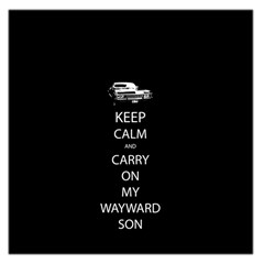 Keep Calm and Carry On My Wayward Son Large Satin Scarf (Square)