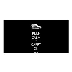 Keep Calm and Carry On My Wayward Son Satin Shawl