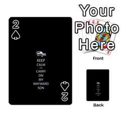 Keep Calm and Carry On My Wayward Son Playing Cards 54 Designs