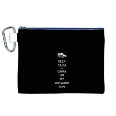 Keep Calm and Carry On My Wayward Son Canvas Cosmetic Bag (XL)