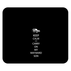 Keep Calm And Carry On My Wayward Son Double Sided Flano Blanket (small)
