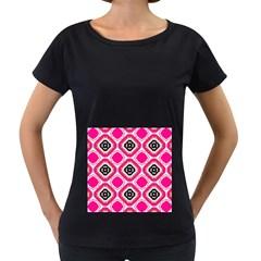 Cute Pretty Elegant Pattern Women s Loose Fit T Shirt (black)