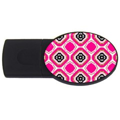 Cute Pretty Elegant Pattern Usb Flash Drive Oval (4 Gb)