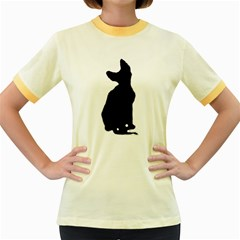 Cornish Rex Silo Women s Fitted Ringer T-Shirts