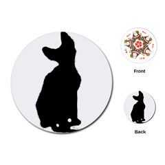 Cornish Rex Silo Playing Cards (Round)