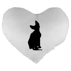 Cornish Rex Silo Large 19  Premium Flano Heart Shape Cushions