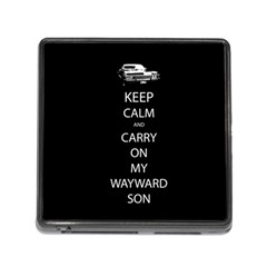 Keep Calm And Carry On My Wayward Son Memory Card Reader With Storage (square)